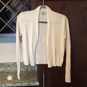 Loft white cardigan (size small)